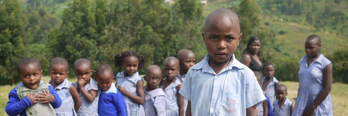 Youngsters at Nyakabungo Primary School
