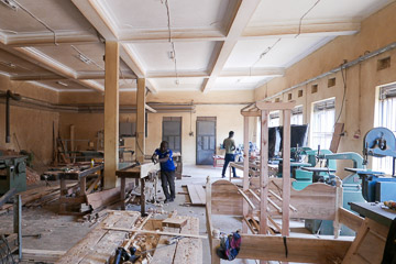 The carpentry workshop