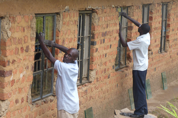 Nyakabungo windows being installed